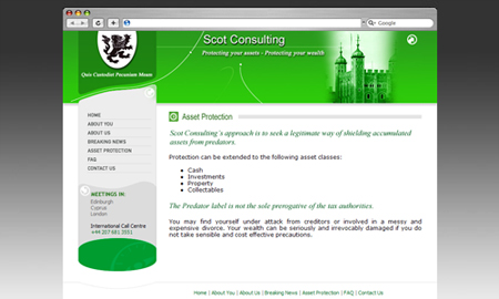 Scot Consulting Website Screenshot
